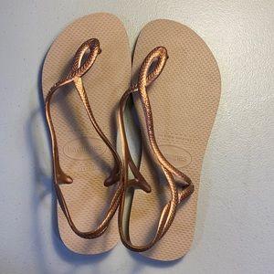 Havaianas Copper flip flops 9/10